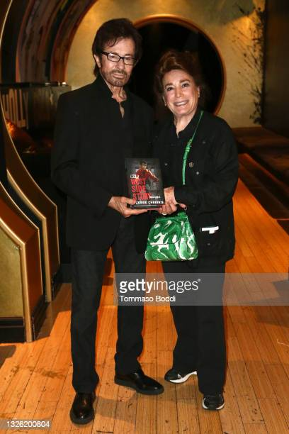 """George Chakiris and Donelle Dadigan attend the Golden Globe and Academy Award winner George Chakiris signs and discusses his new book """"My West Side..."""