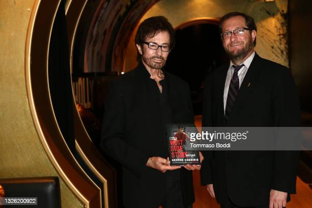 """George Chakiris and Levi Tinker attend the Golden Globe and Academy Award winner George Chakiris signs and discusses his new book """"My West Side..."""