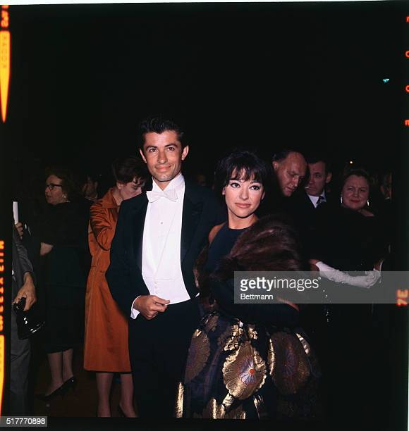 George Chakiris and Rita Moreno are shown here as the arrive at the Academy Awards in Santa Monica