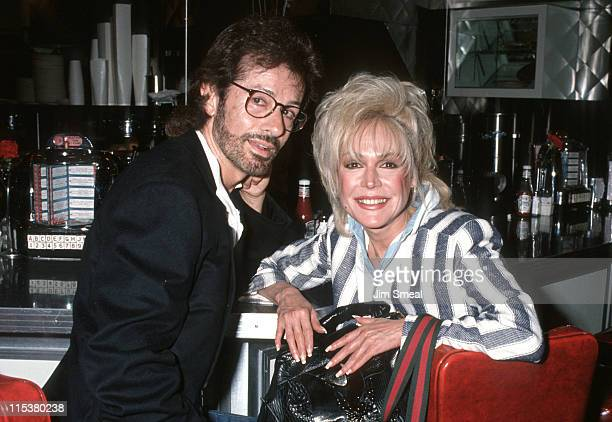 George Chakiris and Sandra Dee during Love Letters Post Party May 14 1991 at Johnny Rockets Restaurant in Beverly Hills California United States