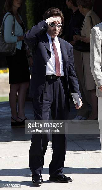 George Chakiris attends Cyd Charisse's Funeral Service at Hillside Memorial Park on June 22 2008 in Culver City California