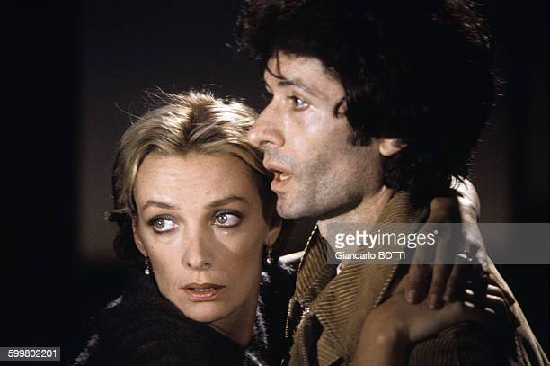 George Chakiris et Marie Laforêt, circa 1970 à Paris, France .