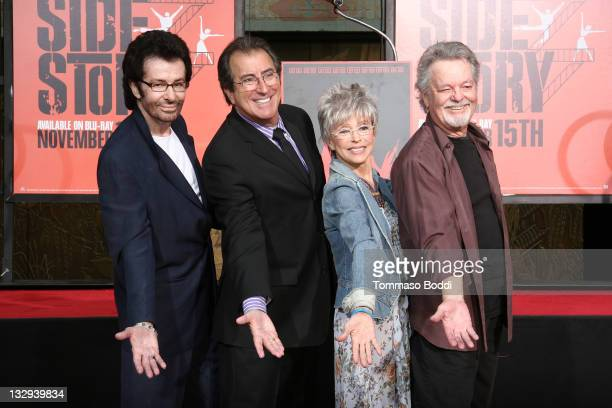 George Chakiris, Kenny Ortega, Rita Moreno and Russ Tamblyn attend the Rita Moreno, George Chakiris and Russ Tamblyn hand and footprint ceremony on...
