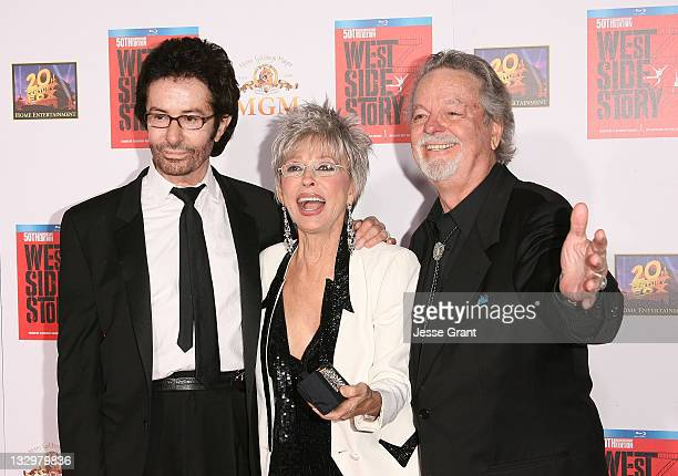 George Chakiris Rita Moreno and Russ Tamblyn arrive at the 50th Anniversary Screening of West Side Story at Grauman's Chinese Theatre on November 15...