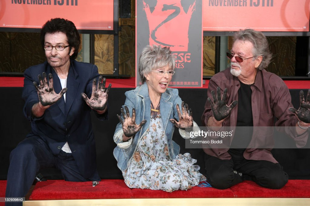 George Chakiris, Rita Moreno and Russ Tamblyn attend the Rita Moreno, George Chakiris And Russ Tamblyn hand and footprint ceremony held at the Grauman's Chinese Theatre on November 15, 2011 in Hollywood, California.