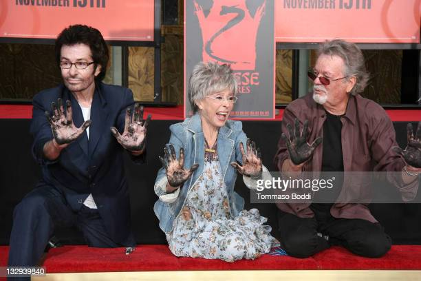 George Chakiris, Rita Moreno and Russ Tamblyn attend the Rita Moreno, George Chakiris And Russ Tamblyn hand and footprint ceremony held at the...