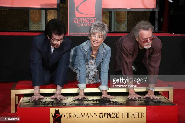 George Chakiris Rita Moreno and Russ Tamblyn attend the Rita Moreno George Chakiris And Russ Tamblyn hand and footprint ceremony held at the...