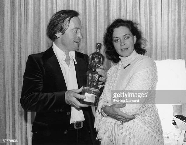 George Christie Chairman of Glyndebourne Productions Ltd with Swedish soprano Elisabeth Soderstrom and the Evening Standard Opera Award presented to...
