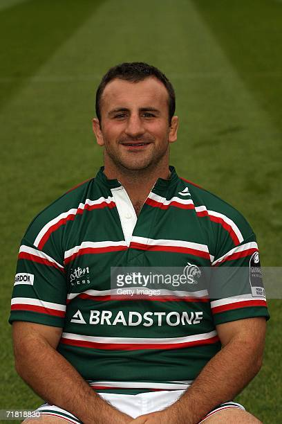 George Chuter of Leicester Tigers poses during the Leicester Tigers Rugby Club Photocall at Welford Road on August 14 2006 in Leicester England