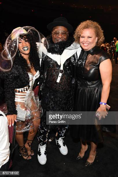 George Clinton and BET Chairman and CEO Debra Lee attend the 2017 Soul Train Awards presented by BET at the Orleans Arena on November 5 2017 in Las...