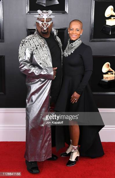 George Clinton and Carlon Clinton attend the 61st Annual GRAMMY Awards at Staples Center on February 10 2019 in Los Angeles California
