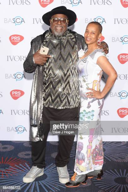 George Clinton and Julie Adenuga attend the Ivor Novello Awards at Grosvenor House on May 18 2017 in London England