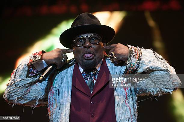 George Clinton and Parliament Funkadelic perform on stage at Wilderness Festival on August 8 2015 in Oxford United Kingdom