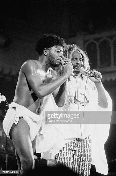 George Clinton , vocal, performs at the Paradiso on 1st July 1991 in Amsterdam, Netherlands.