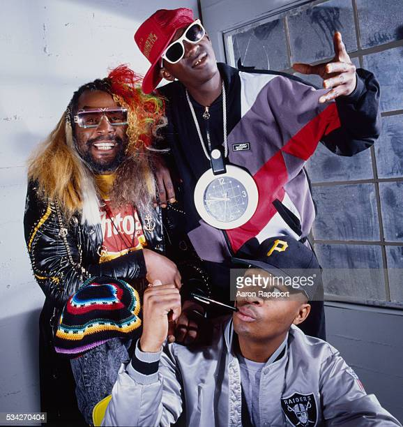 George Clinton with Chuck D and Flavor Flav in Los Angeles shot for Rolling Stone Magazine in 1989