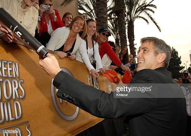 George Clooney 10618_km0429.JPG during TNT Broadcasts 12th Annual Screen Actors Guild Awards - Red Carpet at Shrine Expo Hall in Los Angeles,...