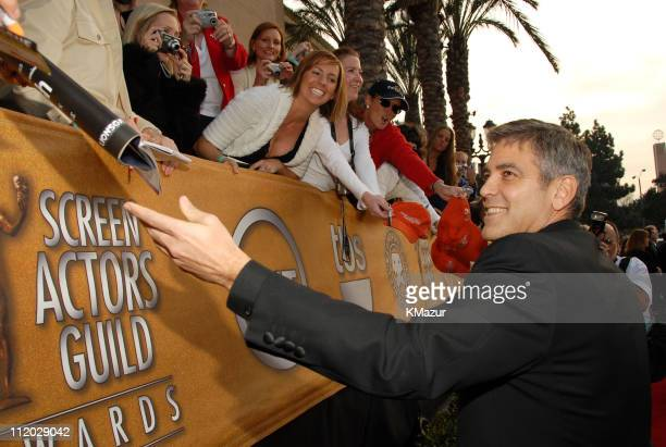 George Clooney 10618_km0431.JPG during TNT Broadcasts 12th Annual Screen Actors Guild Awards - Red Carpet at Shrine Expo Hall in Los Angeles,...