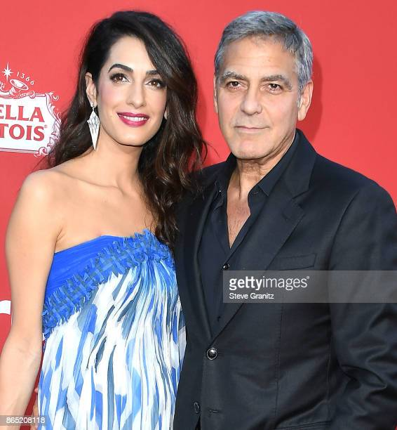 George Clooney Amal Clooney arrives at the Premiere Of Paramount Pictures' 'Suburbicon' at Regency Village Theatre on October 22 2017 in Westwood...