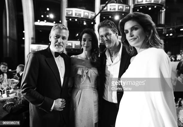 George Clooney, Amal Clooney, Randy Gerber and Cindy Crawford attend the American Film Institute's 46th Life Achievement Award Gala Tribute to George...