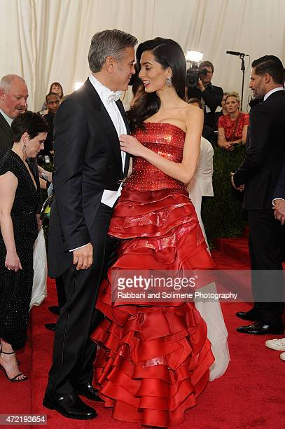 George Clooney and Amal Alamuddin arrives at 'China Through The Looking Glass' Costume Institute Benefit Gala at the Metropolitan Museum of Art on...