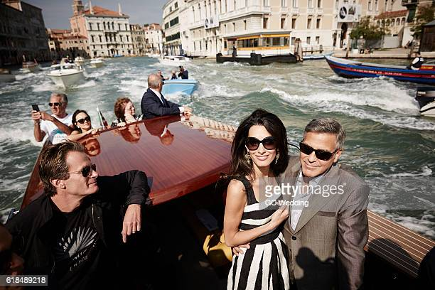 George Clooney and Amal Alamuddin Wedding on September 26 2014 in Venice Italy