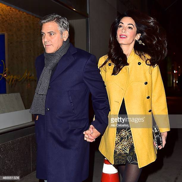 George Clooney and Amal Clooney are seen March 7 2015 in New York City