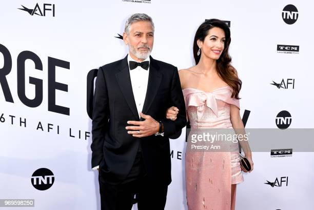 George Clooney and Amal Clooney attend 46th AFI Life Achievement Award Gala Tribute on June 7 2018 in Hollywood California