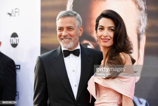 George Clooney and Amal Clooney attend 46th AFI Life Achievement Award Gala Tribute on June 7, 2018 in Hollywood, California.