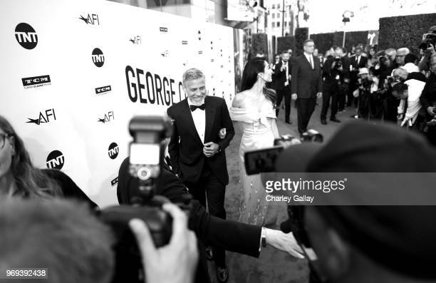 George Clooney and Amal Clooney attend the American Film Institute's 46th Life Achievement Award Gala Tribute to George Clooney at Dolby Theatre on...