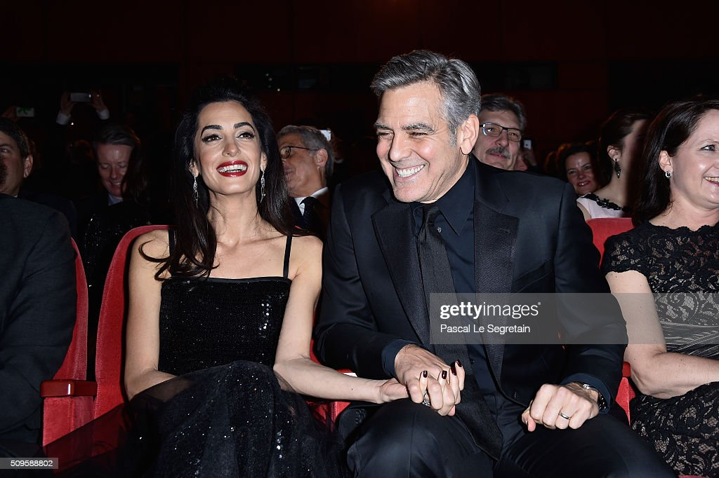 George Clooney and Amal Clooney attend the 'Hail, Caesar!' premiere during the 66th Berlinale International Film Festival Berlin at Berlinale Palace on February 11, 2016 in Berlin, Germany.