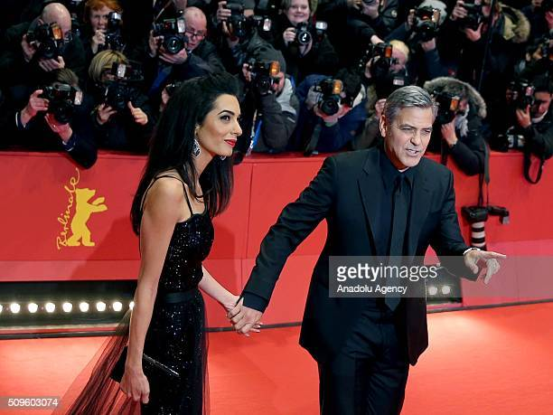 George Clooney and Amal Clooney attend the 'Hail Caesar' premiere during the 66th Berlinale International Film Festival Berlin at Berlinale Palace in...