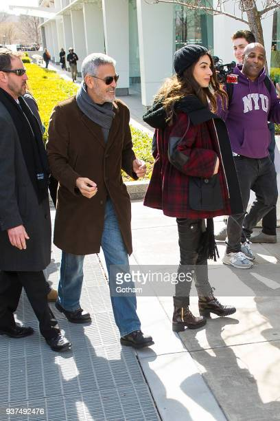 George Clooney and Amal Clooney attend the March For Our Lives on March 24 2018 in Washington City