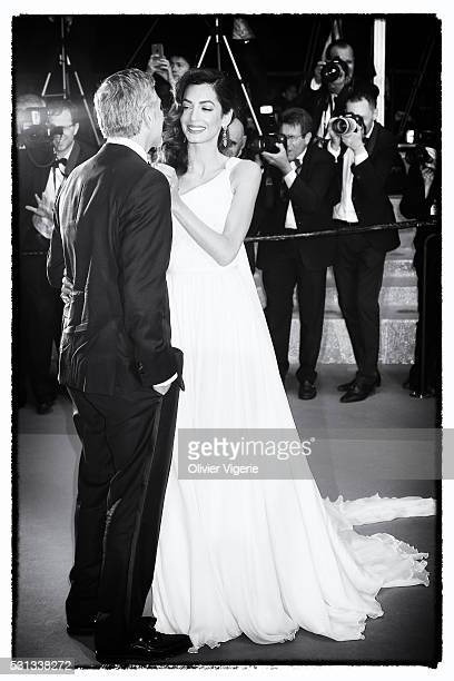 George Clooney and Amal Clooney attend the 'Money Monster' Premiere during the 69th annual Cannes Film Festival on May 12 2016 in Cannes France