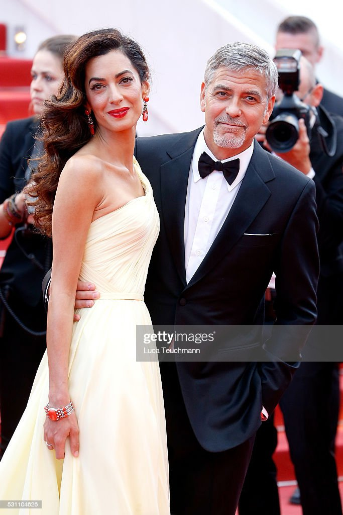 George Clooney and Amal Clooney attend the screening of 'Money Monster' at the annual 69th Cannes Film Festival at Palais des Festivals on May 12, 2016 in Cannes, France.