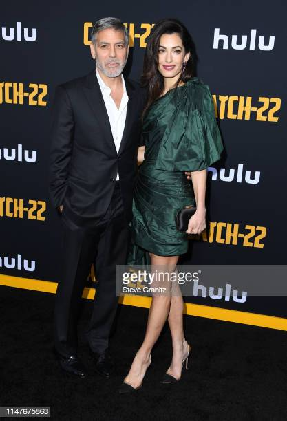 George Clooney and Amal Clooney attend the US premiere of Hulu's Catch22 at TCL Chinese Theatre on May 07 2019 in Hollywood California