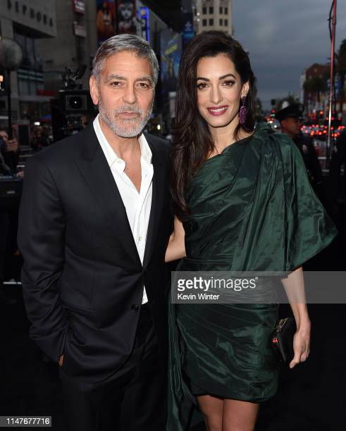 "George Clooney and Amal Clooney attend the U.S. Premiere of Hulu's ""Catch-22"" at TCL Chinese Theatre on May 07, 2019 in Hollywood, California."