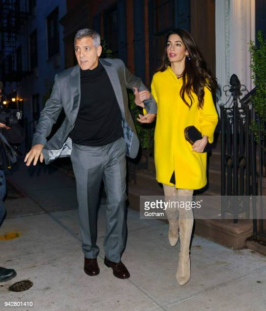 George Clooney and Amal Clooney go for dinner on April 6 2018 in New York City