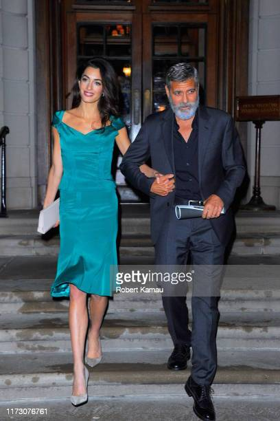 George Clooney and Amal Clooney seen out and about in Manhattanon October 1, 2019 in New York City.