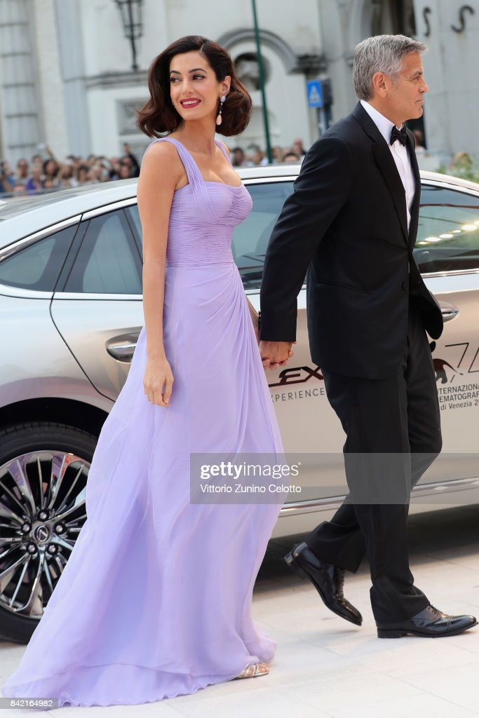 George Clooney and Amal Clooney walk the red carpet ahead of the 'Suburbicon' screening during the 74th Venice Film Festival at Sala Grande on September 2, 2017 in Venice, Italy.