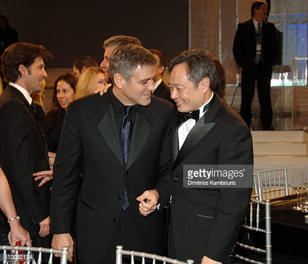 George Clooney and Ang Lee 10612_dk0370jpg during TNT Broadcasts 12th Annual Screen Actors Guild Awards Backstage and Audience at Shrine Expo Hall in...