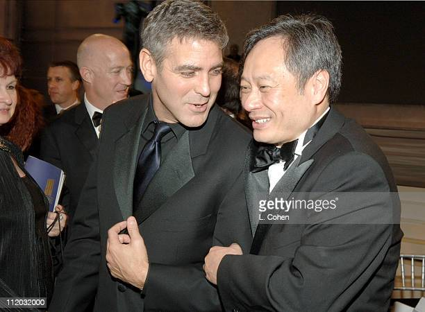 George Clooney and Ang Lee 10612_lc0312jpg during TNT Broadcasts 12th Annual Screen Actors Guild Awards Backstage and Audience at Shrine Expo Hall in...