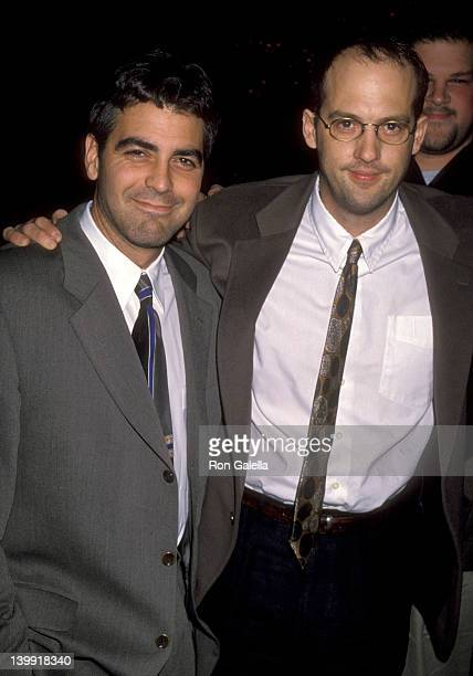 George Clooney and Anthony Edwards at the NBC Winter TCA Press Tour, Ritz-Carlton Hotel, Pasadena.