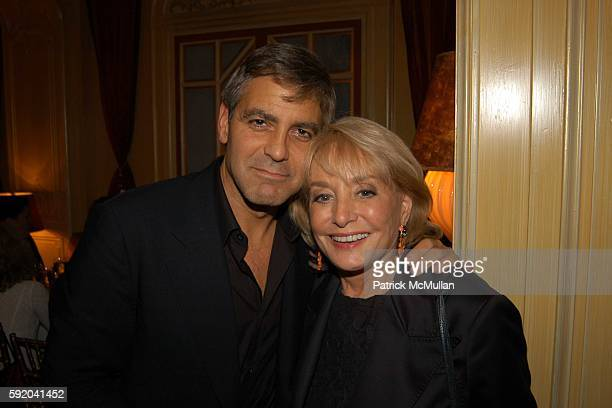 George Clooney and Barbara Walters attend Walter Cronkite Hosts a Private Screening of Warner Independent Pictures' Good Night And Good Luck Directed...
