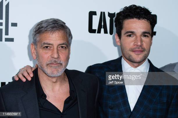 George Clooney and Christopher Abbott attend the Catch 22 UK premiere on May 15 2019 in London United Kingdom