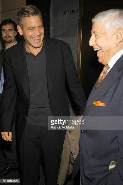 George Clooney and Don Hewitt attend Council on Foreign Relations New York Screening of Good Night and Good Luck at The Museum of Television and...