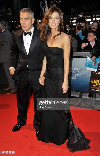 George Clooney and Elisabetta Camalias attend the Opening Gala for The Times BFI London Film Festival which Premiere's 'Fantastic Mr Fox' at the...