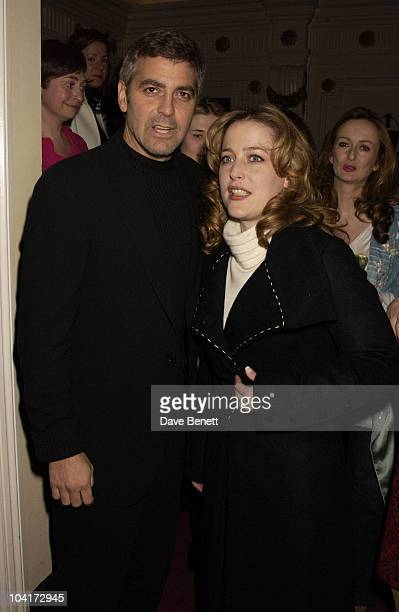 George Clooney And Gillian Anderson Charity Screening And Party For The Movie Ôsolaris' Hosted By Harpers And Queen In Aid Of Ôfacing The World' A...
