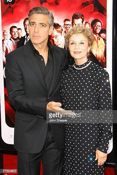George Clooney and his mother