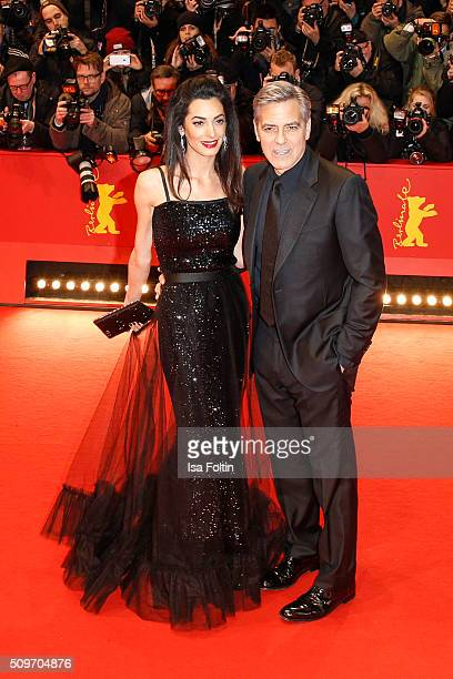 George Clooney and his wife Amal Clooney attend the 'Hail, Caesar!' Premiere during the 66th Berlinale International Film Festival on February 11,...