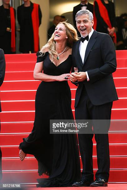 George Clooney and Julia Roberts attend the Money Monster Premiere during the 69th annual Cannes Film Festival on May 12 2016 in Cannes France